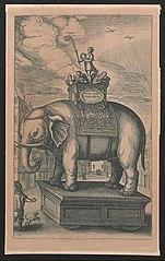 Praalwagen met een olifant