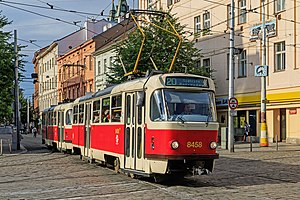 Trams in Prague - Prague Tatra T3R.P trams