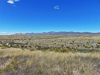 San Pedro Valley (Arizona) - Prairie in the San Pedro Valley near Tombstone, Arizona. The Dragoon Mountains are in the background.