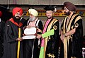 Prakash Javadekar conferring the degrees and medals on students & scholars in various disciplines, at the 44th Annual Convocation ceremony of Guru Nanak Dev University, in Amritsar, Punjab (1).JPG
