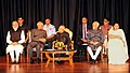 Pranab Mukherjee, the Vice President, Shri M. Hamid Ansari, the President-elect, Shri Ram Nath Kovind and the Prime Minister (5).jpg