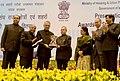Pranab Mukherjee presenting the award to Chandigarh (received by the Governor of Punjab, Shri Shivraj Patil) for effective Implementation of Jawaharlal Nehru National Urban Renewal Mission (JnNURM).jpg
