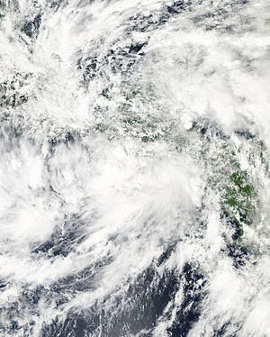 Hurricane Patricia - The sprawling precursor to Hurricane Patricia over Central America on October 17