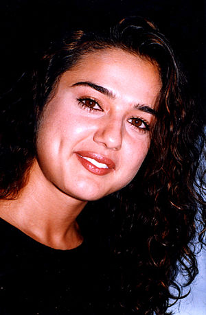 Preity Zinta - Zinta at the audio release of Chori Chori Chupke Chupke in 2001