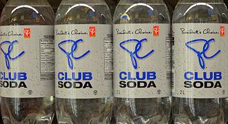President's Choice - A row of President's Choice Club Soda.
