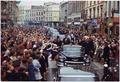 President's Trip to Europe- Motorcade in Dublin. President Kennedy, motorcade, spectators. Dublin, Ireland - NARA - 194227.tif