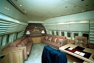 Boeing VC-25 - The President and First Lady's private quarters. The couches can fold out into beds.