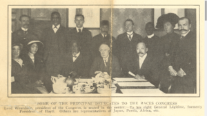 First Universal Races Congress - Principal delegates at the first Universal Races Congress, 1911
