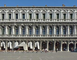 Procuratie - Vincenzo Scamozzi's Procuratie Nuove on the Piazza San Marco, begun 1586.