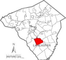 Map of Lancaster County, Pennsylvania highlighting Providence Township