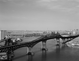 Frank Hague - The Pulaski Skyway between Kearny and Jersey City over the Hackensack River