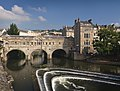 Pulteney bridge in Bath view from south before noon2.jpg