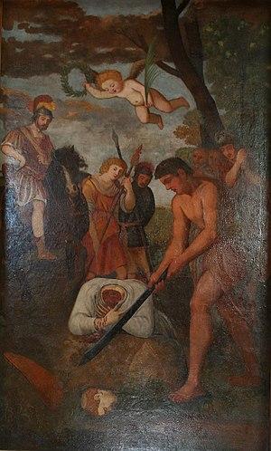 Emygdius - Image: Quadro raffigurante la decollazione di Sant' Emidio IMG 0051