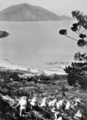 Queensland State Archives 996 Descending Mount Oldfield Lindeman Island Kennedy Sound and Shaw Island in distance c 1931.png