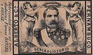 Manuel Luís Osório, Marquis of Erval - Cigarette label with the osorio liography that fought all the war of the south region.