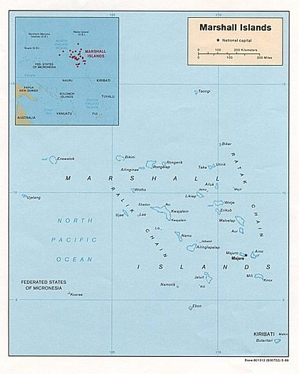 Map of the Marshall Islands