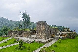 Rabdentse town in Sikkim, India