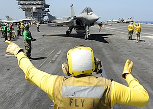 United States Second Fleet - Rafale fighter aircraft onboard Theodore Roosevelt (20 July 2008)