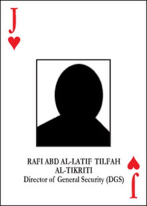 Most-wanted Iraqi playing cards - Rafi Abd Al-Latif Tilfah playing card