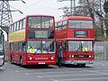 Rail replacement buses V301 KGW & A101 SYE, Three Bridges, 12 January 2014 (1).jpg