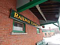 Railway Express Agency sign at Bellows Falls station, March 2015.jpg