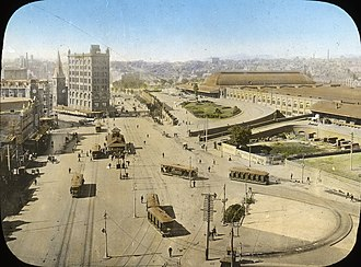 Railway Square, Sydney - Railway Square in 1910.