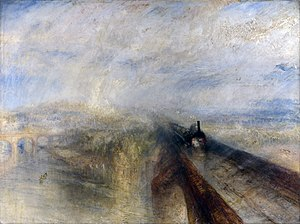 Victorian painting - Rain, Steam and Speed
