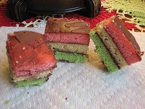 Rainbow cookie - Image: Rainbow cookies