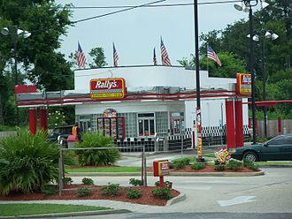 Drive-through - Some fast food chains, such as this Rally's located near New Orleans, LA, have two drive-throughs.