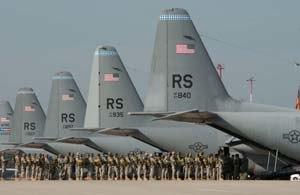 Ramstein Air Base - Lockheed C-130E Hercules of the 37th AS/86th Airlift Wing.