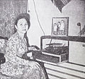 Ratna Ruthinah listening to music Film Varia May 1954 p5.jpg