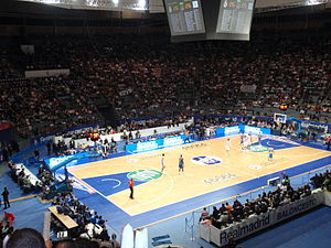 EuroLeague - A EuroLeague game in Madrid, in 2009.