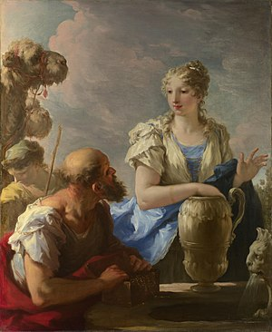 Rebecca - Rebecca at the Well by Giovanni Antonio Pellegrini