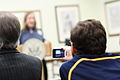 Recording a talk at WikiXDC, 2011-01-22.jpg