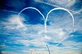 Red Arrows formation flight (heart) 2013 British GP.jpg