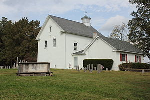 Red Hill Church and School - Red Hill Church and School in Ottsville, PA. September 2012.