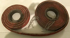 Red feather currency belt, Santa Cruz Islands, HAA.JPG