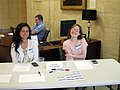 Registration table at the UNC edit-a-thon, April 2013.jpg