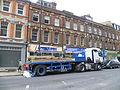 Removing scaffolding Station Road, New Barnet.JPG