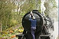 Removing the locomotive lamp at Oxenhope - panoramio.jpg