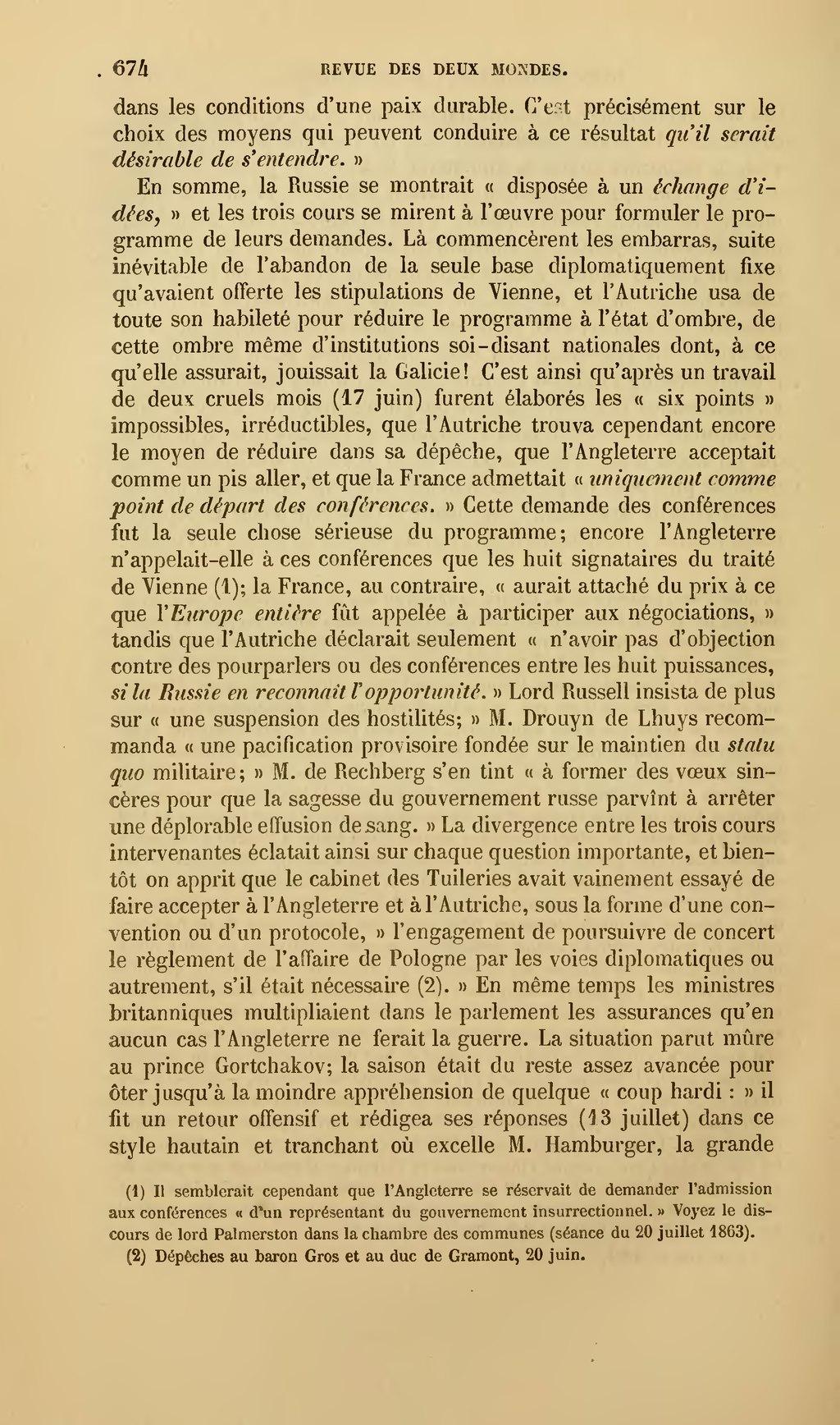 Page revue des deux mondes 1864 tome wikisource - Chambre des lords angleterre ...