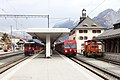 RhB Ge 4-4 II 628, BDt 1751 and Tm 2-2 114 - Scuol-Tarasp, 15th November 2015.jpg