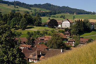 Riggisberg - Riggisberg village and Castle