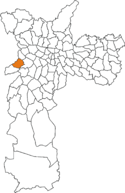 The location of Rio Pequeno district in São Paulo