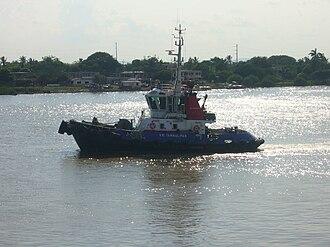 Pánuco River - Boat on Pánuco River at Tampico