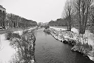 River Arlanzón in winter