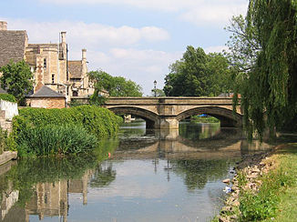 Der Welland in Stamford (Lincolnshire)
