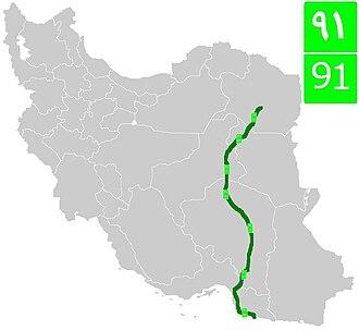 Road 91 (Iran) - Image: Road 91 (Iran)