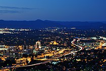 Roanoke City (Virginia) from Mill Mountain Star at Dusk.jpg