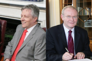 Peter Robinson and Martin McGuinness, First Mi...